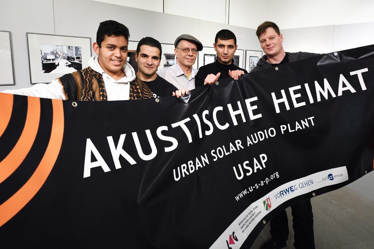 USAP-Künstler präsentieren das Projekt Akustische Heimat